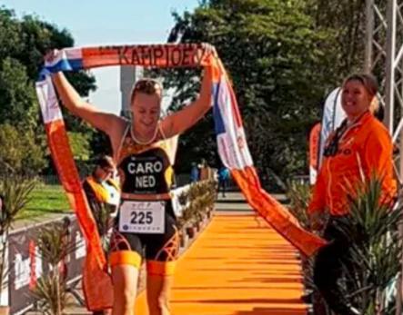 Joyce Caro Nederlands kampioen duatlon